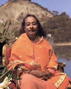 Paramahansa Yogananda at the Lake Shrine Dedication 1950