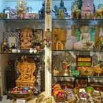 A selection of gifts from India, offered in the Gift Shop