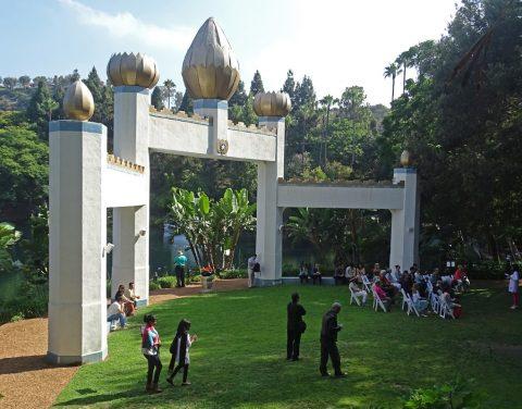 Group tour at the Gandhi Memorial
